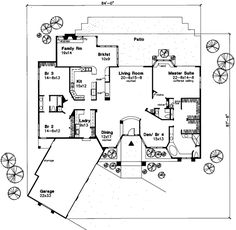Ranch Style House Plans architecturally beautiful ranch style home plan family home plans plan 95979 Ranch Style House Plans 3381 Square Foot Home 1 Story 4 Bedroom And