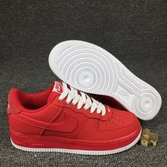 08fd019ed93cdb Mens Sneakers Nike Air Force 1 Low University Red Sail White 820266 603 Air  Force 1
