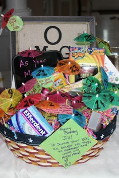 30th Birthday Gift Basket