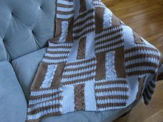 Ravelry: Cable & Rib Checkerboard Baby Blanket #312 pattern by Blue Alvarez