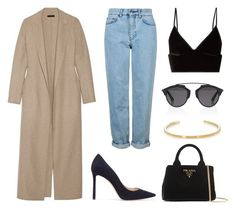 """""""Style #290"""" by elisabethiskandar on Polyvore featuring Topshop, T By Alexander Wang, The Row, Jimmy Choo, Prada, Christian Dior and Yves Saint Laurent"""