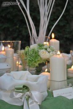 Cendele e centrotavola per un #matrimonio in #verde