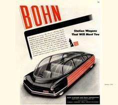 Dozens of illustrations by Arthur Radebaugh for Bohn Aluminium and Brass Corporation