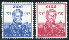 Ireland Adm. Brown Stamps