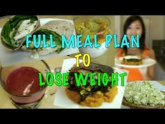 ▶ Full Meal Plan to Lose Weight -The foundation of this meal plan has: • 3 ounces of lean protein • 1 complex carb • Unlimited vegetables • 1 healthy fat Each meal should be about 350 calories (or fewer) They are made of simple ingredients, quick and very easily put together.