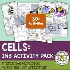 Cells Interactive Notebook Activities: Cells Interactive Notebook Activities to cover cellular structure, function & cellular processes. This science Interactive Notebook activity pack contains cells activities for life science and biology. Biology Lessons, Science Biology, Science Lessons, Life Science, Cell Biology, Biology Teacher, Science Notes, Science Art, Science Education