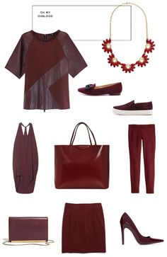10 Outstanding Oxblood Pieces for Fall  Read more - http://www.stylemepretty.com/living/2013/10/03/10-outstanding-oxblood-pieces-for-fall/