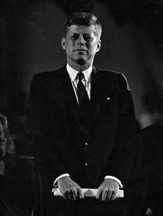thosekennedys:  May 9, 1960:At the official start of the 1960 Presidential campaign Senator John Kennedy delivers his 1st speech on Labor Day to a crowd of 60,000