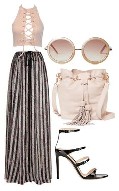 """""""Untitled #512"""" by gabbyriera on Polyvore featuring Lanvin, Gianvito Rossi, Foley + Corinna and Monki"""