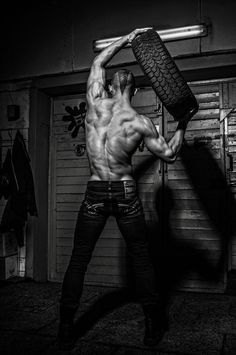 Sexy muscle guy man cool body jeans tire back shoulders Raining Men, Fitness Photography, Poses, Male Form, Male Physique, Easy Workouts, Mens Fitness, Sweat Fitness, Stay Fit