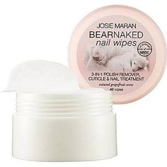 The Best Scented Nail Polish Removers: Josie Maran Bear Naked Nail Wipes  #InStyle