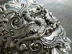 Silver Dragon Cuff Bracelet Renaissance Jewelry. $72.00, via Etsy.