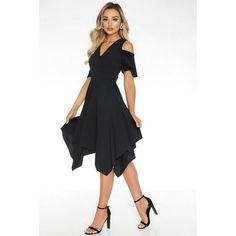 Quiz Ladies Cold Shoulder Midi Dress - Black   Buy Online in South Africa   takealot.com Black Midi Dress, South Africa, Cold Shoulder, Lady, Stuff To Buy, Dresses, Fashion, Vestidos, Moda