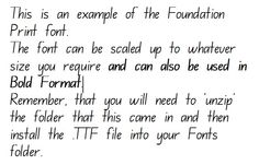 Link to a free download of the nsw foundation style handwriting font foundation print handwriting font ready to download and install immediately fandeluxe Image collections