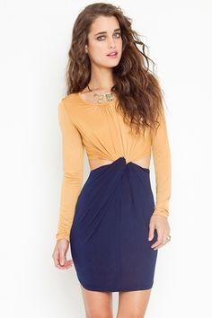 Colorblock Knot Dress - StyleSays