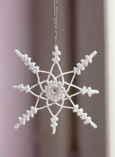 Simple crochet stitches for snowflakes that last! Diagrams included.