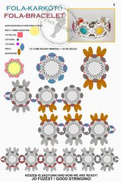 * Ewa gyöngyös világa!: Fola karkötő minta / Fola bracelet pattern