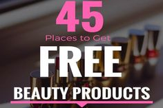 45 places you can get free beauty & cosmetic samples from foundations & eyeliners to eyeshadow, skincare & haircare product samples. Free Beauty Samples, Free Makeup Samples, Free Cosmetic Samples, Get Free Samples, Mascara, Eyeliner, Eyebrows, Eyeshadow, Eyebrow Makeup