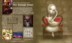 Advertentie College Hotel in combinatie met een artwork van Nicoletta Ceccoli