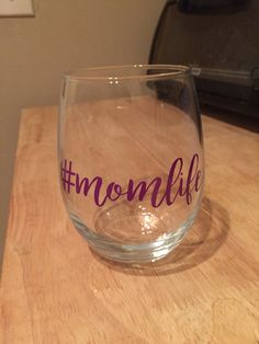 Mom Life Wine Glass by REACHFORTHESUNdesign on Etsy