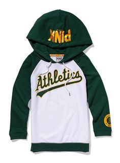 Oakland Athletics Baseball Hoodie - Pink. Can I have it please?