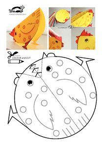 easy pop up frog art for kids hub - PIPicStats Easter Activities, Easter Crafts For Kids, Toddler Crafts, Crafts To Do, Preschool Crafts, Diy For Kids, Activities For Kids, Chicken Crafts, Paper Plate Crafts