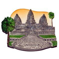 Resin Fridge Magnet: Cambodia. Angkor Wat