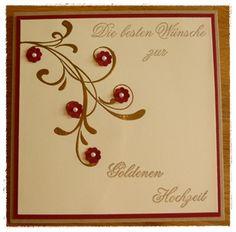 Kreatives aus Papier Stampin Up Karte Goldene Hochzeit