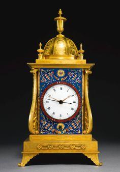 A George III ormolu and enamel quarter striking musical table clock for the Chinese market, John Mottram, London, circa 1780