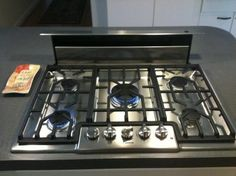 gas stove top with pop up vent - Google Search
