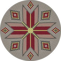 """The location where building and construction meets style, beaded crochet is the act of using beads to decorate crocheted products. """"Crochet"""" is derived fro Tapestry Crochet Patterns, Bead Loom Patterns, Crochet Stitches Patterns, Stitch Patterns, Crochet Cross, Crochet Chart, Bead Crochet, Diy Crochet, Loom Bands"""