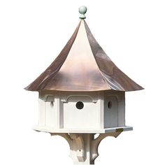 Lazy Hill Farm Designs Carousel Bird House with Polished Copper Roof