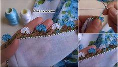 ANADOLU MEMLEKET ÇİÇEĞİ ÇEYİZE YAZMA ÖRNEĞİ Hand Embroidery, Manualidades