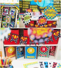 Superhero polka dots classroom theme decor decorations school bulletin board ~classroom decor by Schoolgirl Style www.schoolgirlstyle.com