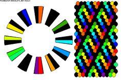 K6620 - friendship-bracelets.net.                                                  24 strings / 13 colours