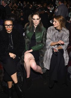 Olivia Palermo Photos: Dennis Basso - Front Row - Mercedes-Benz Fashion Week Fall 2015