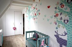 kid's room - #maatwerk #behang #wallpaper | Perron11