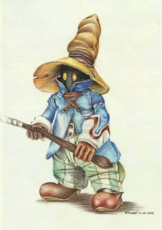 thecyberwolf:  Vivi - Final Fantasy IX  by Rieven  #FFIX