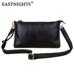 EASTNIGHTS new Women Handbag Canvas Female Bag Clutch Genuine Leather Handbag Ladies Fashion Small Shoulder Messenger Bags HB022