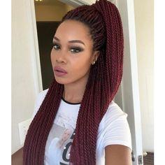 Crotchet Senegalese twist hairstyles for black women - Neue Frisuren - braids Senegalese Twist Braids, Senegalese Twist Hairstyles, Twist Braid Hairstyles, Micro Braids, African Hairstyles, Black Hairstyles, Colored Senegalese Twist, 40s Hairstyles, Long Twist Braids