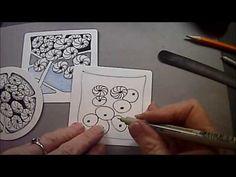 How to draw the Zentangle® Pattern NIPA - YouTube