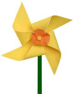 Daffodil pinwheel...do a bouquet for the table at girls birthday party....or change center to a heart and do pink and red for valentines....
