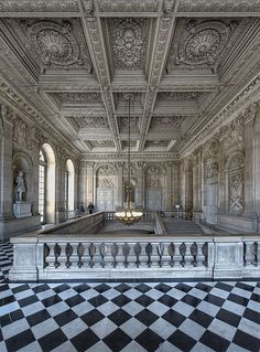 L'escalier des princes, Versailles                                                                                                                                                                                 More