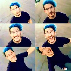 Don't get me wrong, his red hair is AMAZING... but I still miss his blue hair ;-;