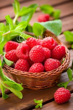fresh raspberries...