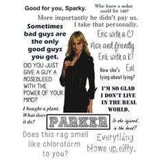 Leverage - Parker is awesome! best person on the show!