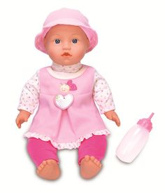 #ToysRus                  #Toys #Dolls              #color/ #vary #darla #giggle #cry #wake #tummy #interactive #styles #exclusive #real #doll #kids #inch #baby #toys                You & Me 18 inch Darla Interactive Doll (Color/ Styles Vary)                  A Toys 'R' Us exclusive, Darla is the interactive doll that responds to touch just like a real baby. Kids can wake Darla by touching her tummy and then cradle her to sleep. Darla will even call out for her  , cry, and giggle just like a…