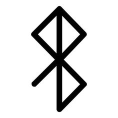Viking bind rune peace happiness black vinyl decal by sparrowhawk9