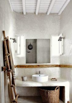 EN MI ESPACIO VITAL: Muebles Recuperados y Decoración Vintage: Un baño rustico en cemento { A concrete rustic bathroom }