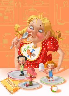 Художник-иллюстратор Татьяна Доронина. Little Boy And Girl, Little Boys, Illustrations, Illustration Art, Cute Images, Whimsical Art, Sacred Geometry, All Art, Tinkerbell